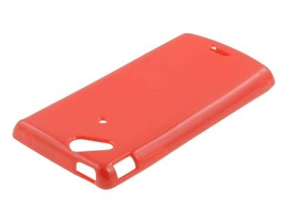 Sony Ericsson XPERIA Arc/Arc S Frosted Colour TPU Gel Case - Red