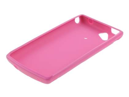 Sony Ericsson XPERIA Arc/Arc S Frosted Colour TPU Gel Case - Pink