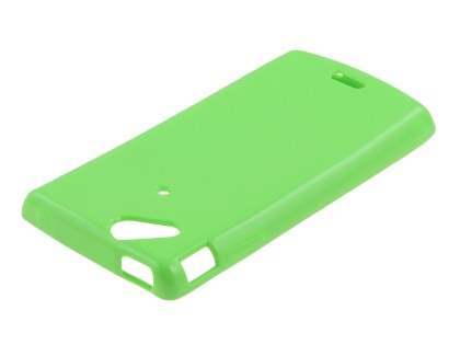 Sony Ericsson XPERIA Arc/Arc S Frosted Colour TPU Gel Case - Lime Green