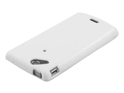 Sony Ericsson XPERIA Arc/Arc S Frosted Colour TPU Gel Case - Pearl White