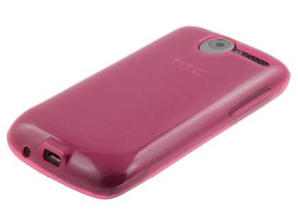 HTC Desire A8183 Frosted Colour TPU Gel Case - Pink