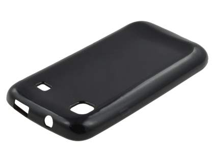 Samsung I9000 Galaxy S Frosted Colour TPU Gel Case - Black