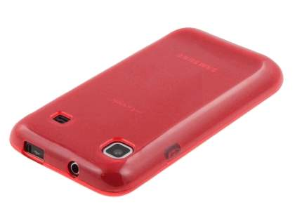 Samsung I9000 Galaxy S Frosted Colour TPU Gel Case - Red