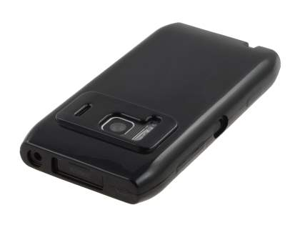 Nokia N8 Frosted Colour TPU Gel Case - Black