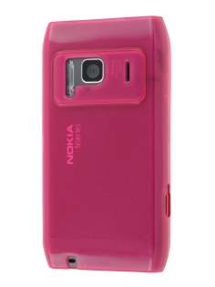 Nokia N8 Frosted Colour TPU Gel Case - Pink Soft Cover