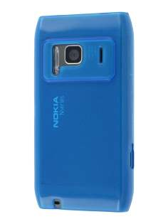 Nokia N8 Frosted Colour TPU Gel Case - Blue Soft Cover