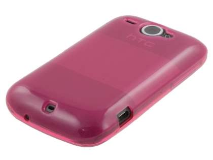 HTC Wildfire G8 Frosted Colour TPU Gel Case - Pink