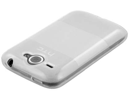 HTC Wildfire G8 Frosted Colour TPU Gel Case - Clear