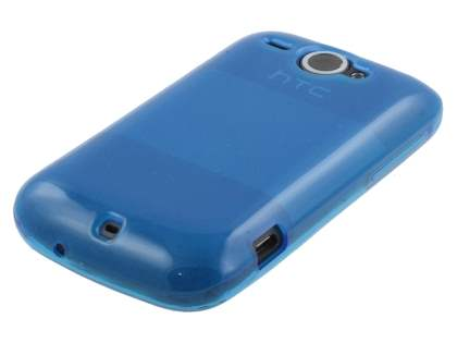 HTC Wildfire G8 Frosted Colour TPU Gel Case - Blue