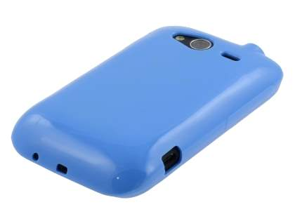 HTC Wildfire S Frosted Colour TPU Gel Case - Maya Blue