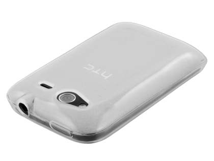 HTC Wildfire S Frosted Colour TPU Gel Case - Clear