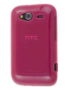 HTC Wildfire S Frosted Colour TPU Gel Case - Pink