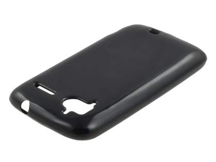 HTC Sensation Frosted Colour TPU Gel Case - Black