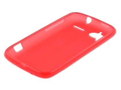 HTC Sensation Frosted Colour TPU Gel Case - Red