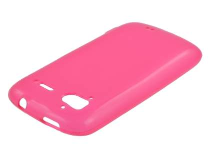 HTC Sensation Frosted Colour TPU Gel Case - Pink