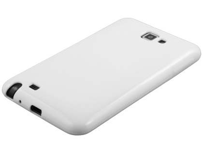 Samsung I9220 Galaxy Note Frosted Colour TPU Gel Case - White