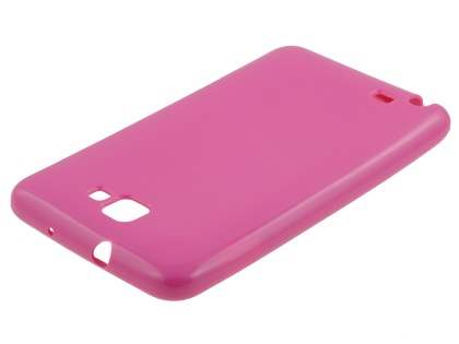 Samsung I9220 Galaxy Note Frosted Colour TPU Gel Case - Pink