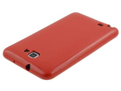Samsung I9220 Galaxy Note Frosted Colour TPU Gel Case - Red