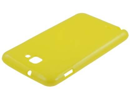 Samsung I9220 Galaxy Note Frosted Colour TPU Gel Case - Yellow