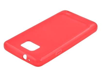 Samsung I9100 Galaxy S2 Frosted Colour TPU Gel Case - Red