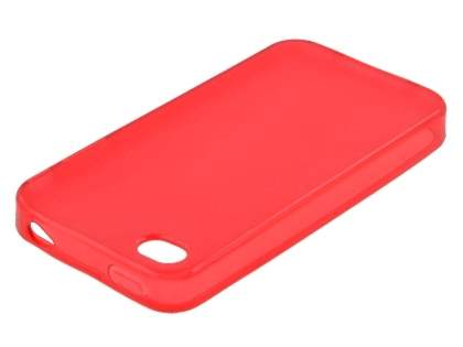 iPhone 4S/4 Frosted Colour TPU Gel Case - Red