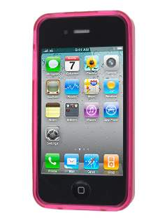 iPhone 4S/4 Frosted Colour TPU Gel Case - Pink