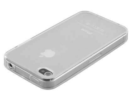 iPhone 4S/4 Frosted Colour TPU Gel Case - Clear