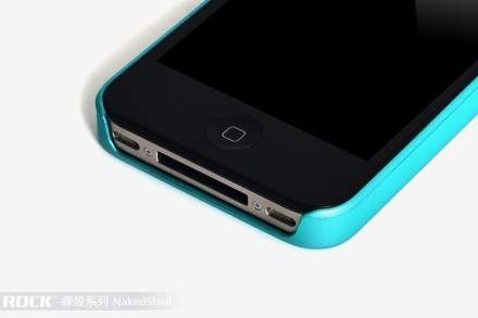 ROCK Nakedshell Rubberised Case for Apple iPhone 4S/4 - Sky Blue