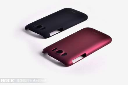 ROCK Nakedshell Rubberised Case for HTC Sensation XL - Burgundy Red