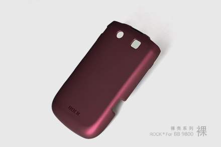 ROCK Nakedshell Rubberised Case for BlackBerry Torch 9810/9800 - Burgundy Red
