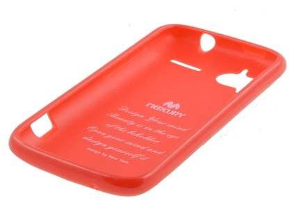 Mercury Glossy Gel Case for HTC Sensation - Carnelian Red
