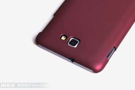 ROCK Nakedshell Rubberised Case for Samsung I9220 Galaxy Note - Burgundy Red