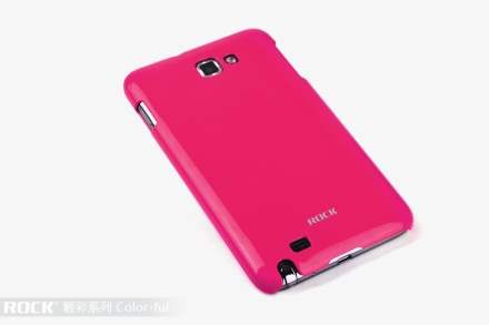 ROCK Nakedshell Colour Case for Samsung I9220 Galaxy Note - Glossy Pink Hard Case