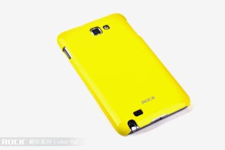 ROCK Nakedshell Colour Case for Samsung I9220 Galaxy Note - Glossy Yellow Hard Case