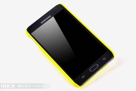 ROCK Nakedshell Colour Case for Samsung I9220 Galaxy Note - Glossy Yellow