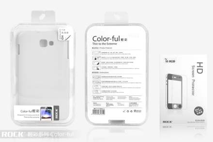 ROCK Nakedshell Colour Case for Samsung I9220 Galaxy Note - Glossy White