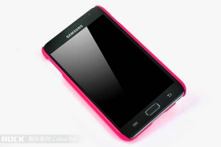 ROCK Nakedshell Colour Case for Samsung I9220 Galaxy Note - Glossy Pink
