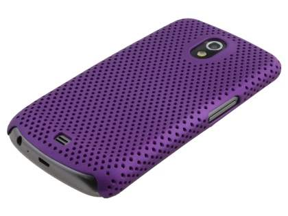 Samsung I9250 Google Galaxy Nexus Slim Mesh Case - Grape Purple