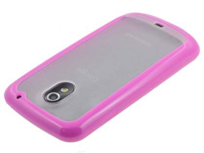 Samsung I9250 Google Galaxy Nexus Dual-Design Case - Pink/Clear