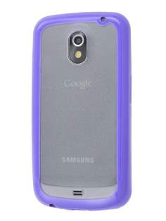 Samsung I9250 Google Galaxy Nexus Dual-Design Case - Purple/Clear