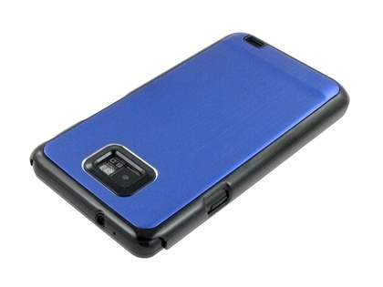 Brushed Aluminium Case for Samsung Galaxy S2 - Ocean Blue