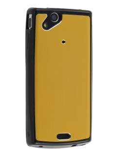 Sony Ericsson Xperia Arc/Arc S Brushed Aluminium Case plus Screen Protector - Gold