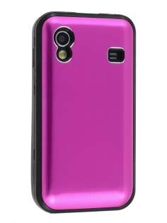 Samsung S5830 Galaxy Ace Brushed Aluminium Case - Hot Pink
