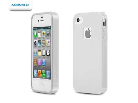MOMAX iCase Shine plus Screen Protector for Apple iPhone 4S/4 - Pearl White