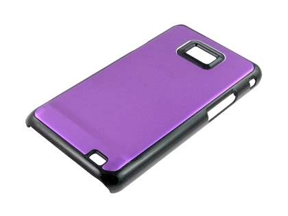 Samsung I9100 Galaxy S2 Brushed Aluminium Case plus Screen Protector - Purple