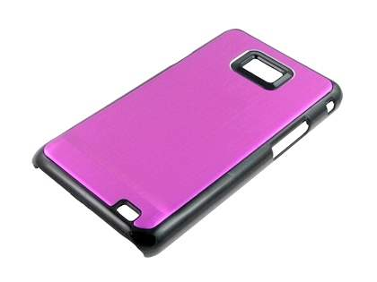 Brushed Aluminium Case for Samsung Galaxy S2 - Hot Pink