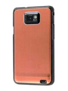 Samsung I9100 Galaxy S2 Brushed Aluminium Case plus Screen Protector - Bronze