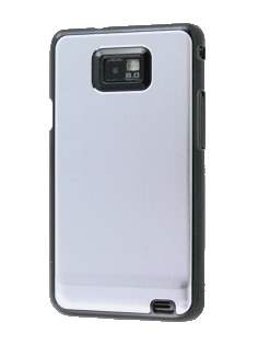 Samsung I9100 Galaxy S2 Brushed Aluminium Case plus Screen Protector - Silver