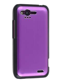 HTC Rhyme Brushed Aluminium Case plus Screen Protector - Lavender Purple