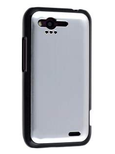 HTC Rhyme Brushed Aluminium Case plus Screen Protector - Silver
